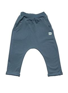 Nila Kids Gri Mavi Rengi Erkek Bebek Organik Pantalon NK4003GM (3 AY- 5 YAş)